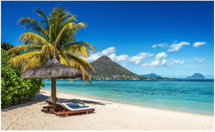 Tropical dream beach on Mauritius